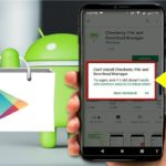 why cant Install or download apps on android phone logo