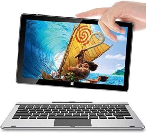 11.6 Windows 10 Tablet, Jumper EZpad 6 Pro PC Tablet with Keyboard Full HD Touch Screen 2 in 1 Laptop with 6GB RAM 64GB ROM Supports 128GB TF-Card,Removable Keyboard, Mini HD, Bluetooth, USB3.0