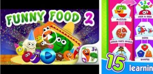 Funny Food educational games for kids toddlers for 18 months kids and babies